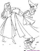Princesa Disney acompañada de amigos