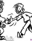 Dos amigos se dan la mano