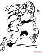 Dibujo de Goofy jugando al tenis