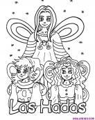 Hadas y elfos para coloear