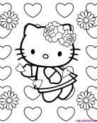 Hello Kitty y corazones de amor