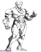 Iron Man, el hombre de hierro, para pintar