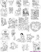 Montones de dibujos Disney en miniatura