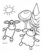 Imágen de ovejas fáciles de pintar