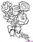 Bonito ramo de rosas para colorear y regalar