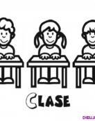 Tres compañeros de clase para colorear