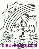 El ángel le habla al sol