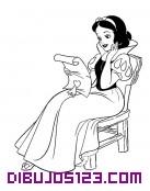 Blancanieves leyendo una carta