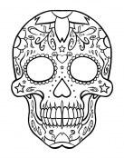 Calavera mexicana para colorear