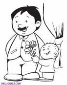 Dibujo para pintar del Día del Padre