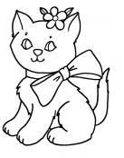 El gatito para colorear