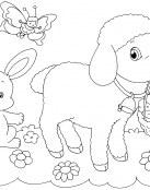 La ovejita y el conejito