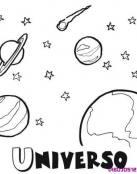 Dibujo del Universo con su nombre