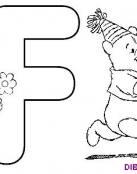 Winnie The Pooh y el nombre de la letra F