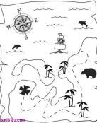 Un mapa del tesoro escondido por piratas