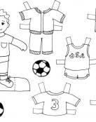 Dibujos recortables de Futbol