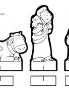 Figuras del Portal de Belen para recortar