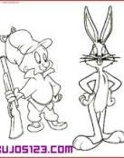 Elmer y Bugs Bunny