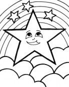 Estrella con arco iris