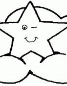 Estrella guiñando un ojo
