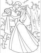 La Bella Durmiente está feliz con su príncipe