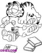 Garfield durmiendo