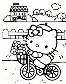 Hell Kitty en bici