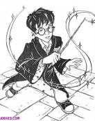Harry Potter lanzando un hechizo