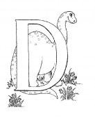 Letra D para colorear