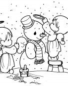 Los ángeles y el muñeco de nieve