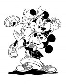 Minnie y Mickey Mouse bailando