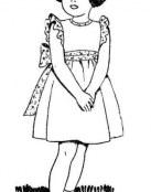 Niña con su vestido nuevo