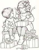 Envolviendo los regalos