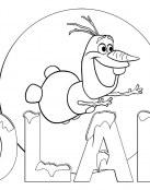 Colorear a Olaf