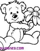 Oso con una flor