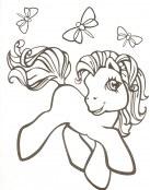 El pequeño Pony y las mariposas