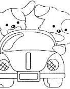 Dos perritos en coche