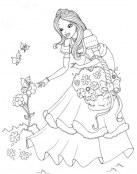 Princesa recogiendo flores