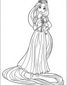 Rapunzel posando