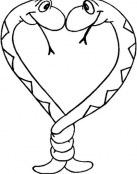 Serpientes enlazadas en forma de corazón