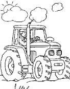 Tractor para colorear