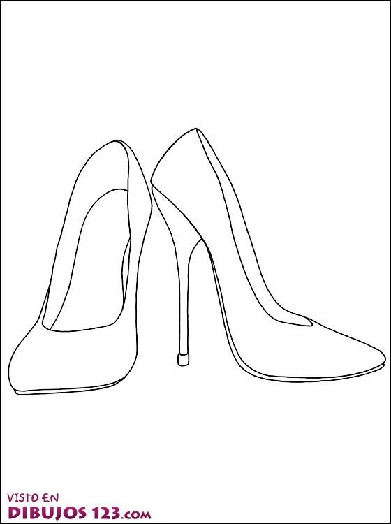 Zapatos de tacón para colorear