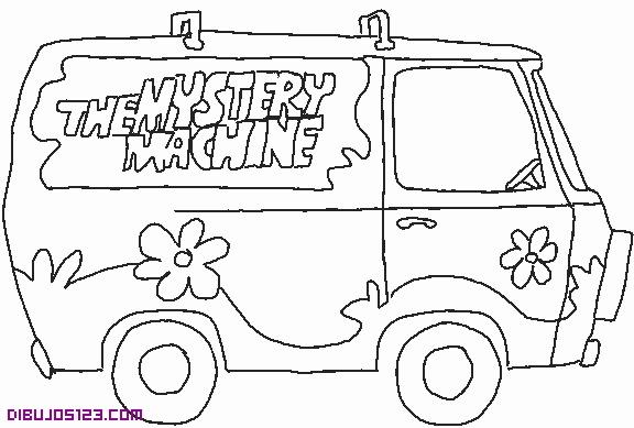 La Camioneta De Scooby Doo Para Pintar